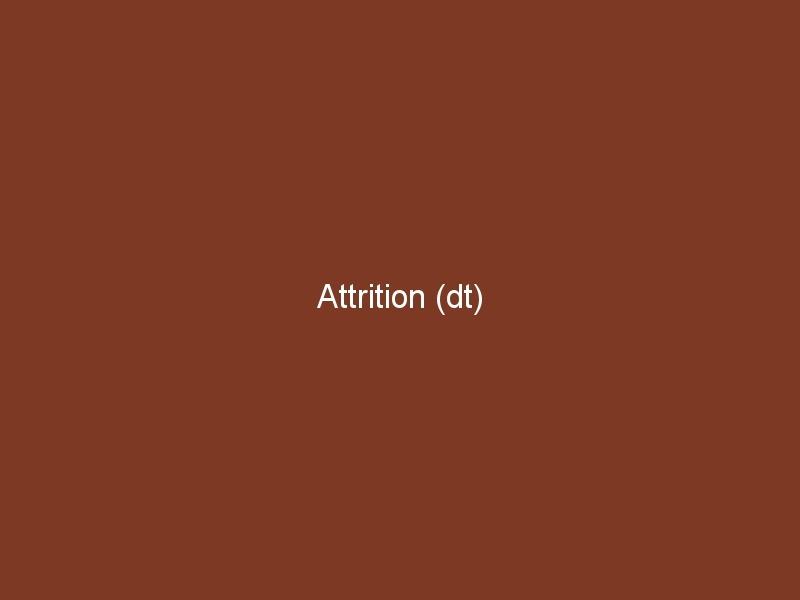 Attrition (dt)